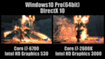 [4K] デビル メイ クライ 4 ベンチマーク Core i7-6700(Intel HD Graphics 530) vs Core i7-2600K(Intel HD Graphics 3000) [DirectX 10]