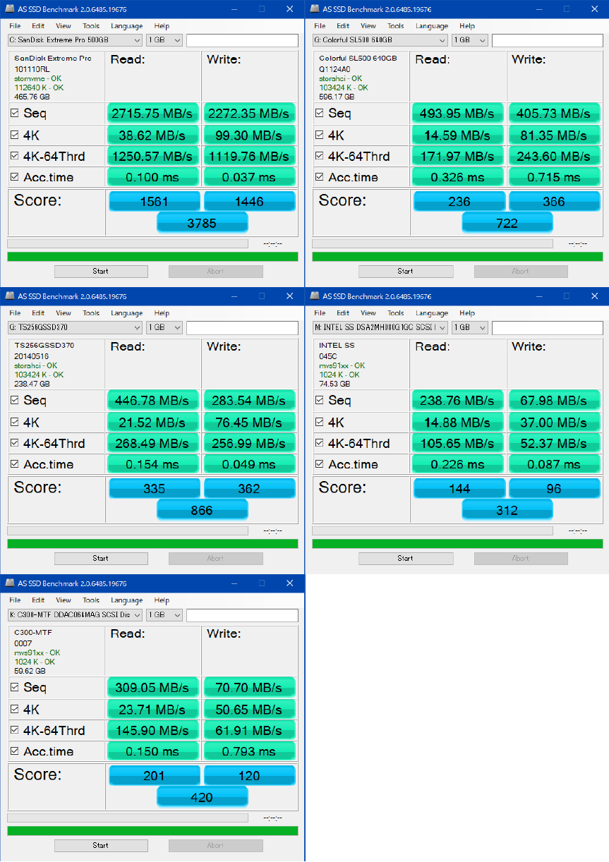SSDベンチ_2018年8月_AS SSD Benchmark